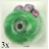 Glass Lamp Bead Oval 18x8mm Light Green